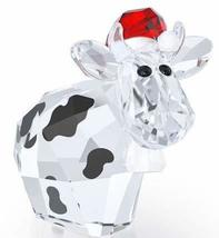 Swarovski Limited Edition 2016 Santa Country Mo Holiday Cow Figurine - $65.01