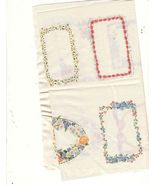 10 Fabric Quilt Labels Lightweight Cotton Small & Larger Flowery Borders - $14.00