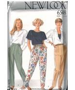 6548 UNCUT New Look Sewing Pattern Misses Pants Slacks Pull on Casual OO... - $5.53