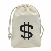 Sanrich 20 Pack Money Bags Drawstring Pouches Goody Bag 4.3 x 6.6 inches Canvas