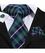 SN-3044 Silk Men's Tie Necktie Men s Accessories Set Multicolor Tkgang - $17.82