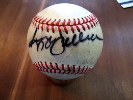 REGGIE JACKSON YANKEES A'S SIGNED AUTO VINTAGE ERA GAME USED BASEBALL JSA - $197.99