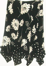 WOMEN'S BLACK PRINTED 100% SILK SKIRT SIZE 4 - $10.00