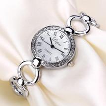 LVPAI Vintage Bracelet Watch Casual Style Crystal Dial Analog Quartz Watch - $7.74