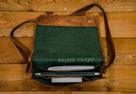 """15"""" Men's Genuine Leather Vintage Laptop Messenger Handmade Shoulder Bag Satchel image 4"""