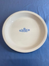 Corning Ware Vintage Blue Cornflower White Plate Baking Dish 309 Oven Microwave - $11.99