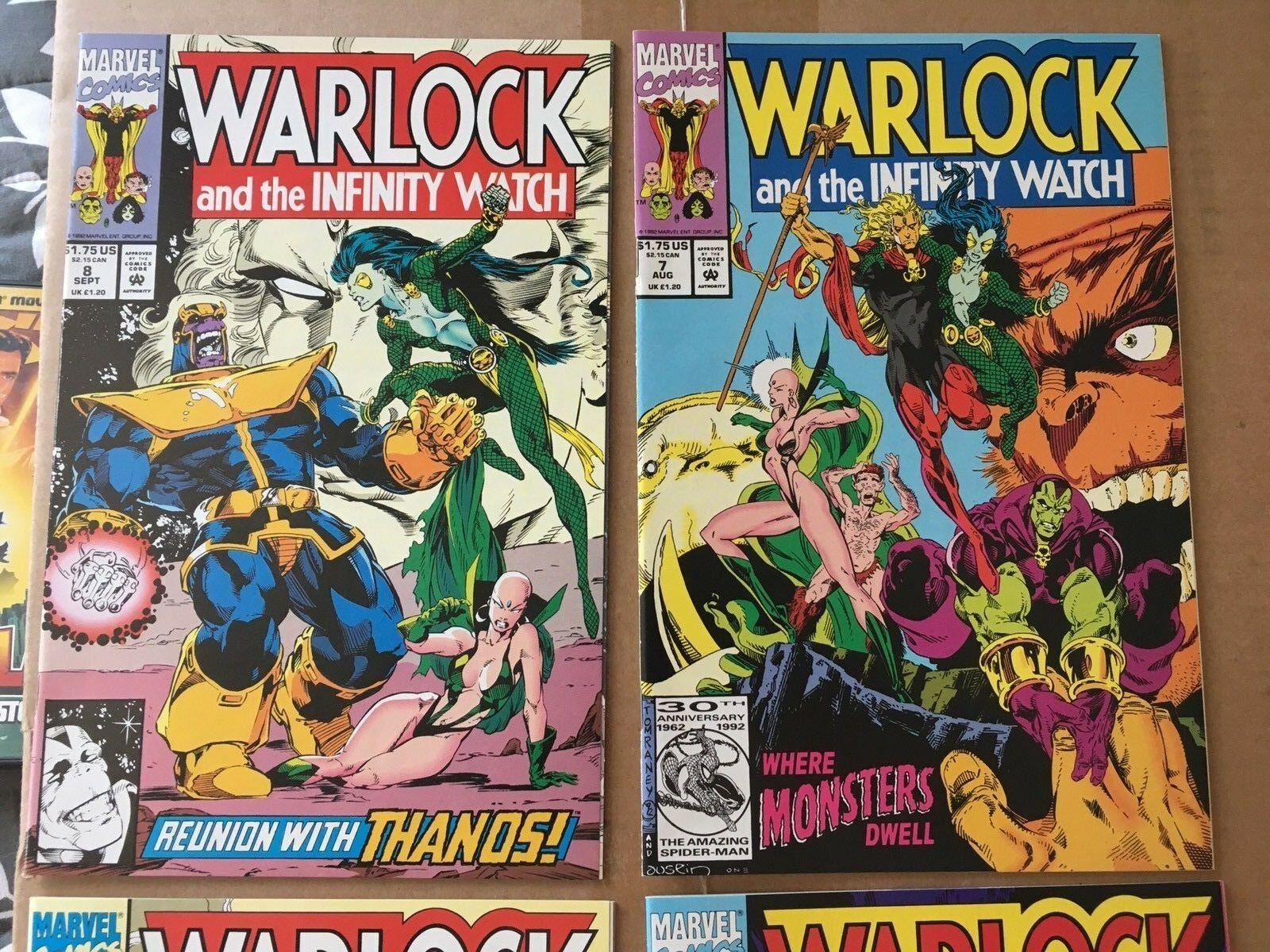 Warlock & The Infinity Watch 5 6 7 8 Marvel Comic Book Lot Of 4 NM 1989