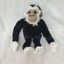 """14"""" Plushland Gorilla Ape Monkey Animal Land Black White Plush Stuffed T... - $19.97"""