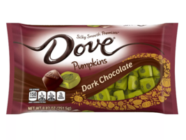 New ! 8.87 oz DOVE PROMISES Dark Chocolate Harvest Pumpkin Halloween Candy