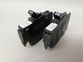 "2 - 20 Amp American FPE Stab-Lok Single Pole 1/2"" Thin BREAKERS Type NC - $16.95"