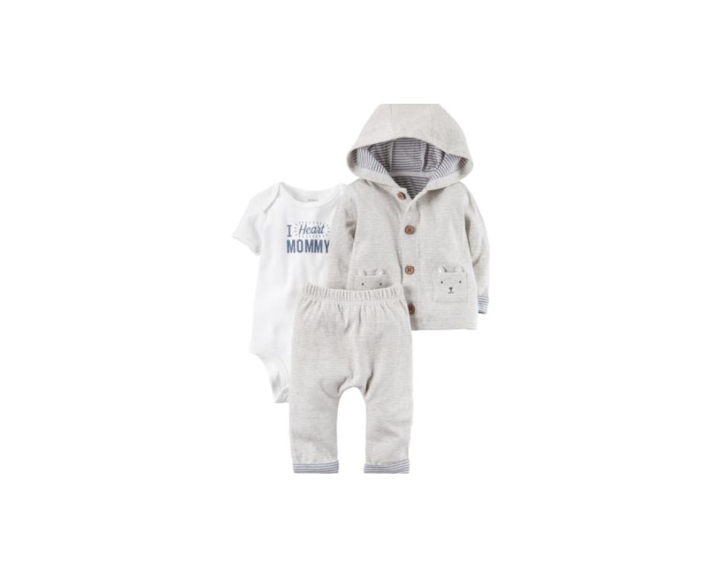 Carter's Baby Boys 3-Piece Little Jacket I Heart Mommy Set Size 24 M NWT