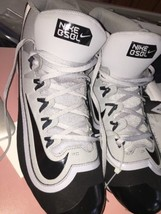 Nike Bsbl Huarache Keystone Mid Men's Boys Baseball Shoes Cleats Size 14
