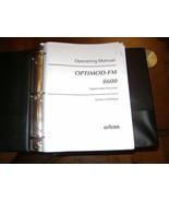 Orban Optimod 8600 FM Operating Manual - $23.17