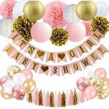 Baby Shower Decorations for Girl - Pink and Gold Baby Shower Decoration ... - $24.39