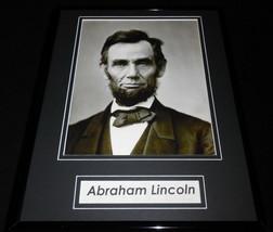 Abraham Abe Lincoln Framed 11x14 Photo Display - $49.49