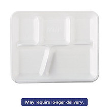 Genpak Foam School Trays 5-Comp 10 2/5 x 8 2/5 x 1 1/4 White 500/Carton ... - $1.403,90 MXN