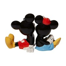 Disney Mickey & Minnie Mouse Sitting Salt & Pepper Shakers Set Collectible Gift image 2