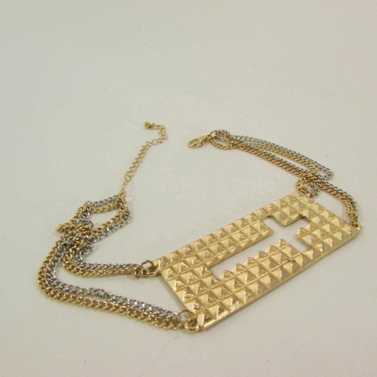 Mujer Moda Joyería Bota Brazalete Oro Placa Cruz Cadenas Zapato Bling Charm image 6