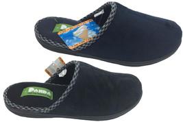 Mens Slippers Panda Elroy Navy or Black Slip On Mule Scuff Slipper 6-12 New - $27.63