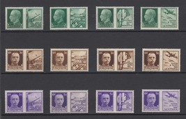1942 Italy WWII Propaganda Set of 12 Mint Postage Stamps