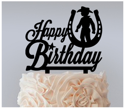 Birthday,Cake topper,Cupcake topper,little western cowboy horseshoe : 11 pcs - $20.00