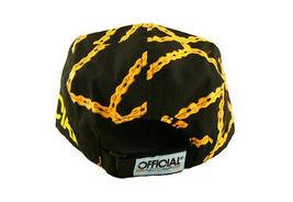 Official Black Bike Chain Gang Bicycle Biking 5 Panel Strapback Camper Hat NWT image 4