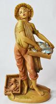 Vintage Capodimonte Style Italian Plastic Hand Painted Statue Child Fish... - $123.49