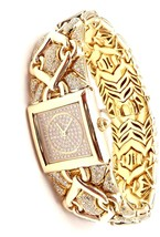 Authentic! Bulgari Bvlgari Trika 18k Yellow Gold Diamond 21mm Watch - $22,275.00