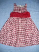 Gymboree Holiday Classic Red Plaid Christmas Portrait Party Dress Size 5 Outlet - $14.89