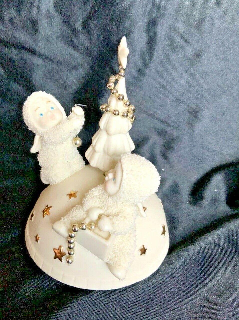 "Department 56 Snowbabies Revolving Music Box Trimming The Tree ""O""Tannenbaum"" - $24.99"
