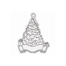 Sterling Silver Blank Christmas Tree Ornament - $66.46