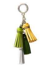 NWT MICHAEL KORS Green Cascading Charms Tassel Leather Key Chain Bag Charm  - $24.42