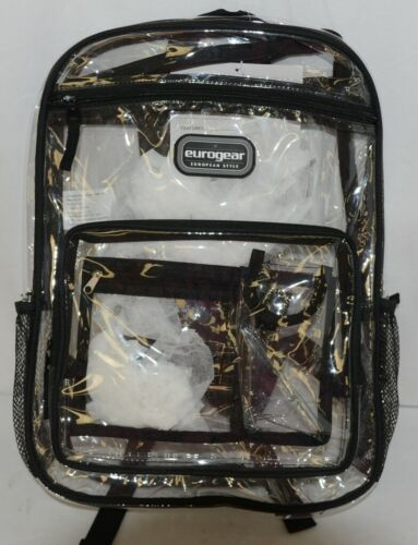 Shalam Imports Brand Eurogear Extreme Adventure Clear Backpack Black