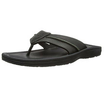 Timberland Men's Originals Black Leather Thong Sandals 5341A - $59.99