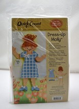 Dress-Up Molly Quick Count Plastic Canvas Needlepoint Kit-Doll Dress Pur... - $14.20