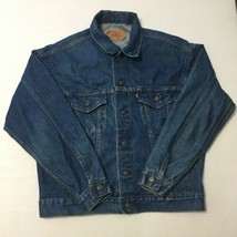 Vtg Levis Jacket Medium 44 Chest 25 Long 1980s Stranger Things USA Made ... - $37.81