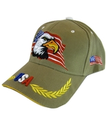 USA American Bald Eagle Flag on Side Patriotic Men's Adjustable Baseball... - $11.95