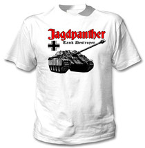 Jagdpanther Tank Germany Wwii - New White Cotton Tshirt - $24.17