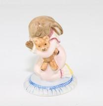 Royal Doulton Goodnight Bunnykins England Praying Girl Bunny Teddy Bear Figurine - $34.65