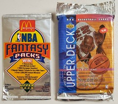 1991-92 & 1993-94 Upper Deck Basketball Lot of 2 (Two) Sealed Unopened Packs  - $21.76