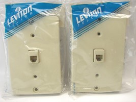 2 Leviton 40253-I 1-Gang Wall Phone/Surface110 Type Quick-Connect 6P4C RJ11 t75 - $9.89