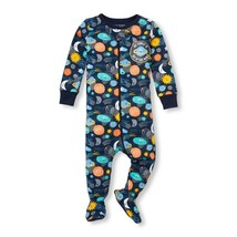 NWT The Childrens Place Boys Space Blue Footed Stretchie Pajamas Sleeper - $8.99