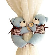 George Jimmy 1 Pair of Cartoon Bear Curtain Hold Backs Curtain Tieback f... - $27.03