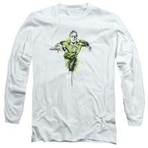 Green Lantern Color Splash DC Comics Retro long sleeve adult graphic tee GL312 image 1