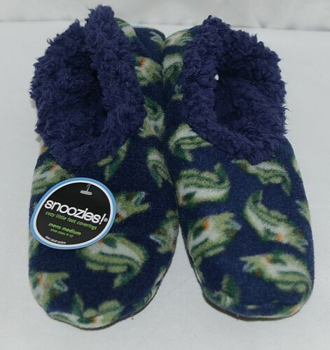 Snoozies Brand 500274N Bass Style Navy Blue Color Mens Size M House Slippers