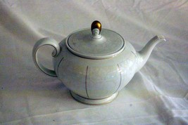 Rosenthal White Velvet 3 Cup Tea Pot Continental Line Gold Trim - $69.29