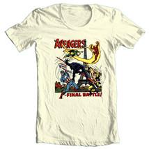 Avengers Final Battle T-shirt vintage retro style 70s 100% cotton beige tee image 2