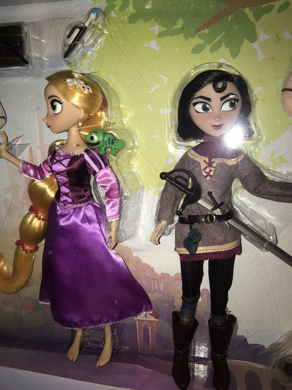 Disney Store Rapunzel And Cassandra Dolls Gift Set From Tangled The Series Nib Disney