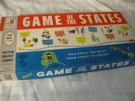 1960 Game Of The States Milton Bradley All Original Complete Vintage Game - $49.99