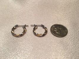 14k White & Yellow Gold Hoop Earrings. Pre Owned  & Very Nice. - $58.41